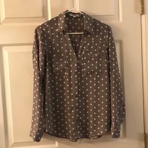 Express Tops - Polka dot button down shirt